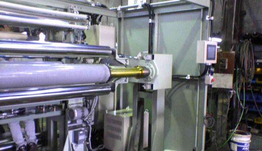 セパレーター巻取機(面長2400mm・自動切断・自動巻き付け・テープレス)